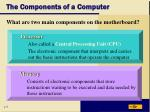 the components of a computer8