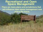 recreational and open space management44