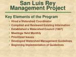 san luis rey management project