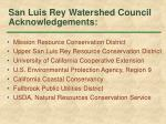 san luis rey watershed council acknowledgements