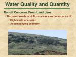 water quality and quantity38