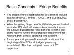 basic concepts fringe benefits