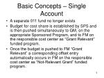 basic concepts single account