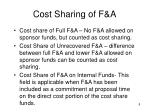 cost sharing of f a