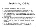 establishing io sps