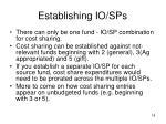 establishing io sps18