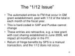 the 1 12 issue