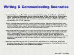writing communicating scenarios