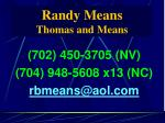 randy means thomas and means