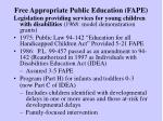 free appropriate public education fape