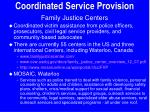 coordinated service provision