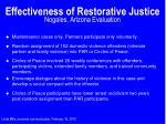 effectiveness of restorative justice nogales arizona evaluation