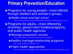 primary prevention education9