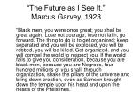 the future as i see it marcus garvey 1923