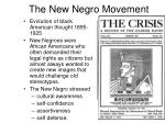 the new negro movement