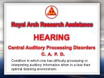 royal arch research assistance