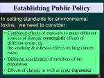 establishing public policy