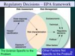 regulatory decisions epa framework