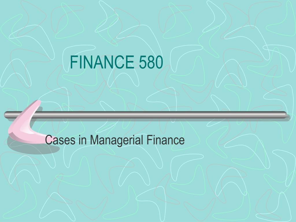 finance 580 l.