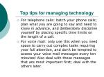 top tips for managing technology