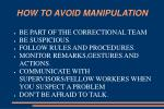how to avoid manipulation