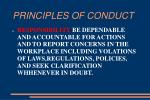 principles of conduct10