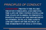 principles of conduct11