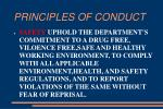 principles of conduct12