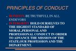 principles of conduct8