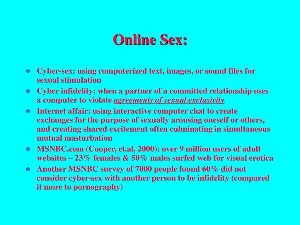 Online Sex: