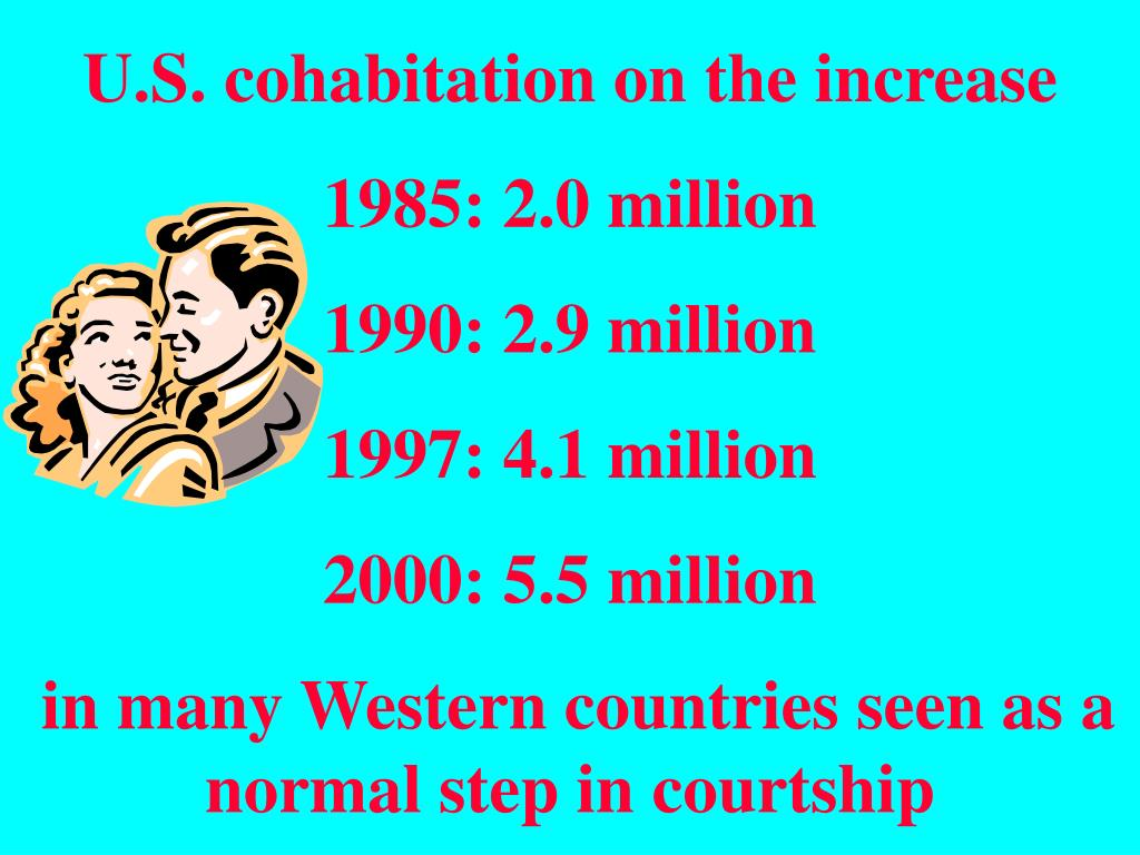 U.S. cohabitation on the increase