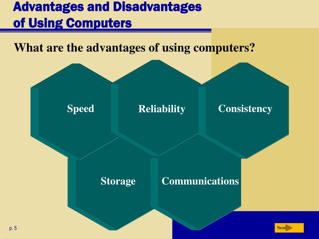 the advantage and disadvantage of using computers