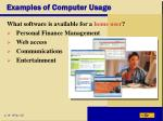 examples of computer usage42