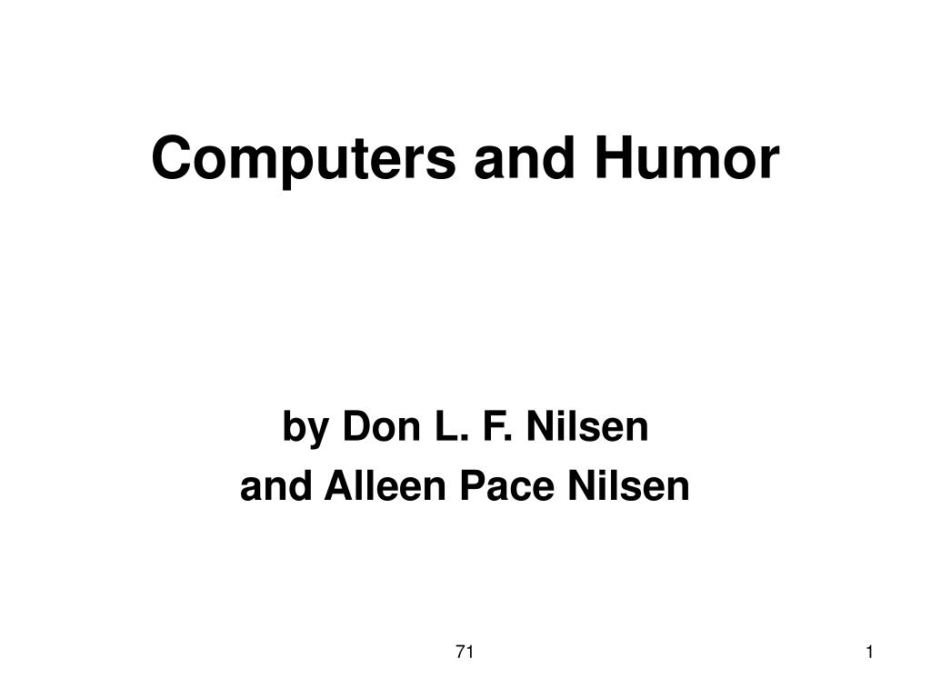 computers and humor l.