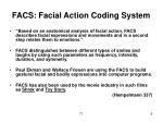 facs facial action coding system