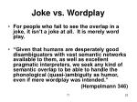 joke vs wordplay