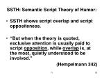 ssth semantic script theory of humor