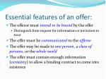 essential features of an offer