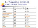 1 1 temp rature centrale et environnement thermique5
