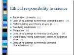 ethical responsibility to science23