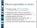 ethical responsibility to science24
