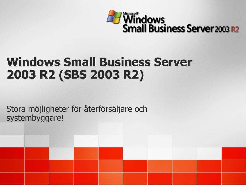 windows small business server 2003 r2 sbs 2003 r2 l.