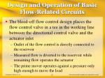 design and operation of basic flow related circuits20