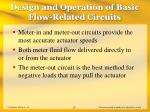 design and operation of basic flow related circuits22