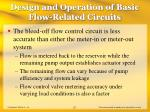 design and operation of basic flow related circuits23