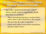 design and operation of basic motion related circuits36