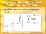 design and operation of basic motion related circuits40