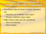 design and operation of circuits with other functions