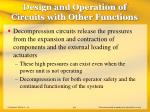 design and operation of circuits with other functions44