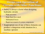 design and operation of circuits with other functions47